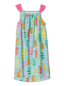 88eb5352ac Komar Kids Girls Hot Pink Summer Animal Stack Nightgown -Kitty Cat