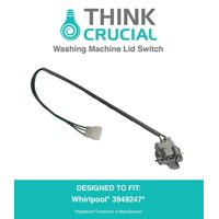 Durable Washing Machine Lid Switch, Fits Whirlpool, Amana, Maytag, Kenmore, Part # 3949247, # 3949240, # 3949239, & # 3949237, by By Think Crucial
