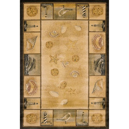 United Weavers Nautical Border Multi Woven Polypropylene Area Rug or Runner Border Polypropylene Rug