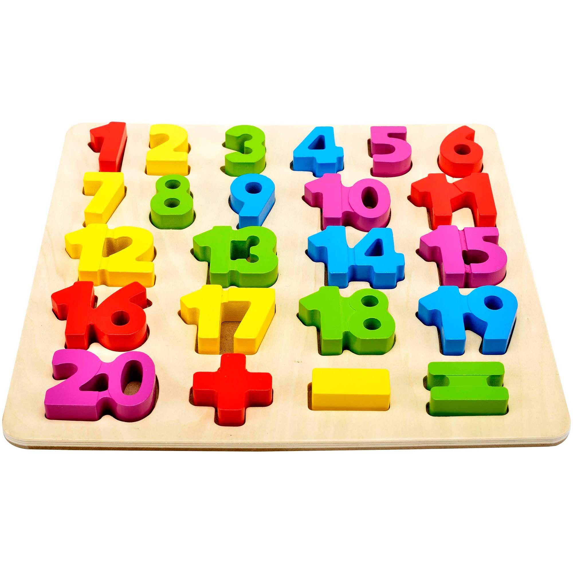 Spark  Create  Imagine  Wooden Number Puzzle