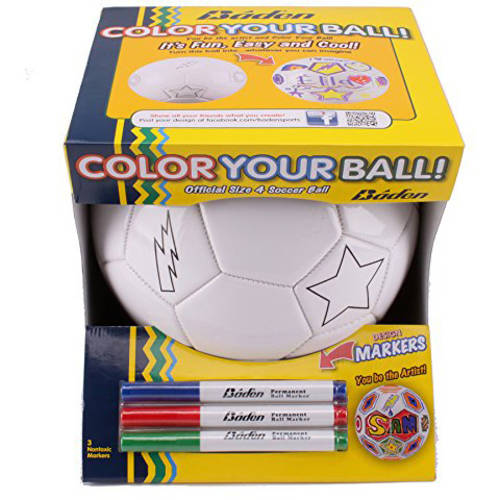 Baden Sports Color Your Own Soccer Ball, Size 4 by