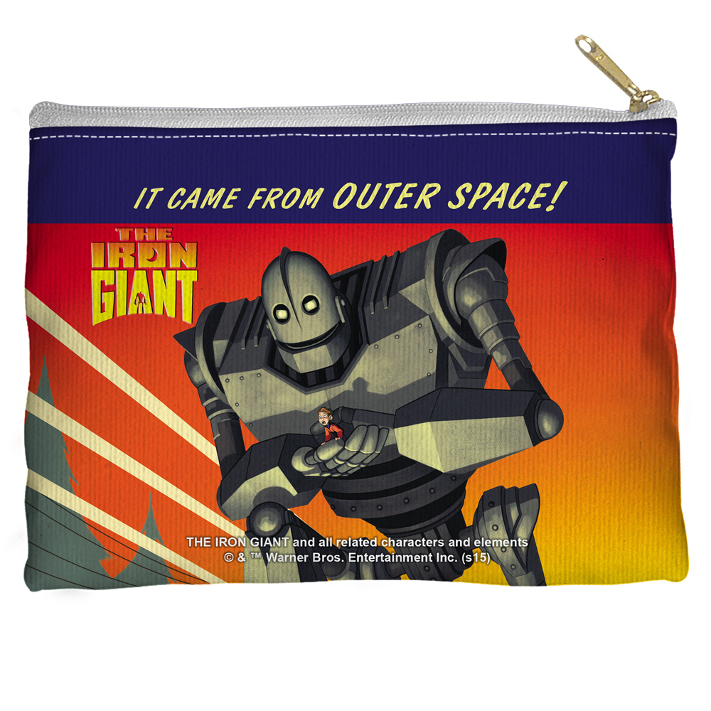 Iron Giant It Came From Space Accessory Pouch White 8.5X6