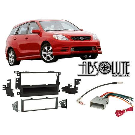 Absolute Radiokitpkg10 Fits Toyota Matrix 2003 2004 Double Din Stereo Harness Radio Install Dash Kit