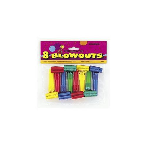 Unique Industries 9303 8 Piece Prismatic Squawker Blowouts Pack of 12