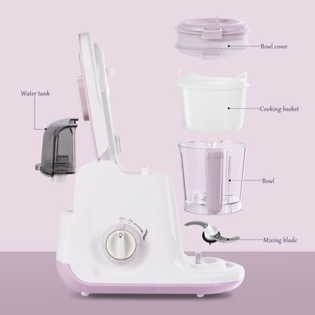 5 In 1 Baby Food Processor Feeding Blender Fixer Puree Heating Defrosting - image 3 of 10