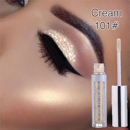 Jeobest Liquid Eye Shadow - PHOERA Long-lasting Metallic Diamond Pearly Watery Eye shadow Sparkling Party Radiant Fashion Liquid Eye shadow Makeup Tool for Creating Charming Eye Outline - Halloween Eye Makeup Smokey