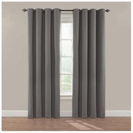 Rayon Curtain - Eclipse Nadya Solid Room Darkening Window Curtain Panel