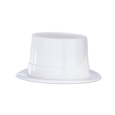 Club Pack of 24 White Plastic Topper Party Hats Costume Accessories