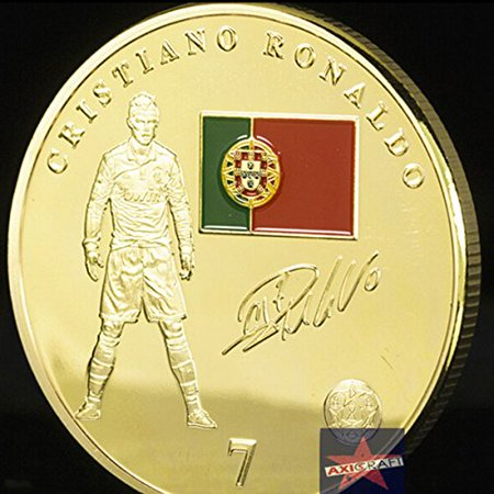 Cristiano Ronaldo Football Real Madrid Cf Portugal Superstar Gold Plated Coin Challenge Coin