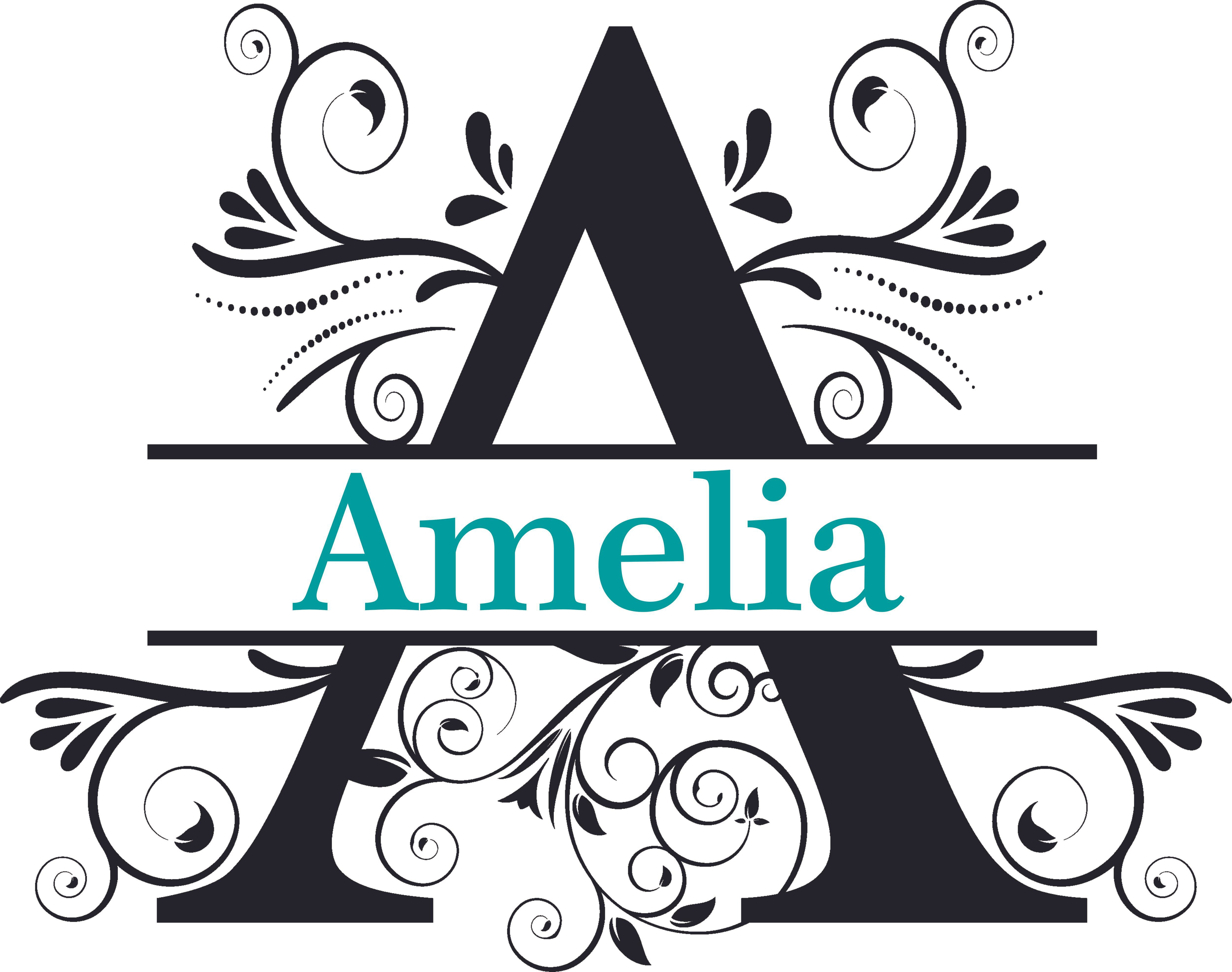 Fancy Letter Text Split Design Customized Wall Decal Custom Vinyl Wall Art Personalized Name Baby Girls Boys Kids Bedroom Wall Decal Room Decor Wall Stickers Decoration Size 12x20 Inch
