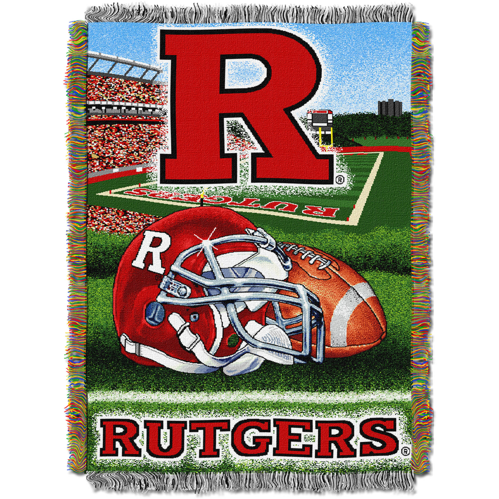 "NCAA 48"" x 60"" Home Field Advantage Series Tapestry Throw, Rutgers"
