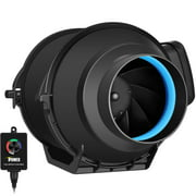iPower 4 Inch 150 CFM Inline Duct Fan with Variable Speed Controller Ventilation, Quiet HVAC Exhaust Blower, Black