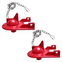 """2 Pack of FlushLine Toilet Flappers for Kohler Shark Top GP84138, 84313, 85655, 89825, 2"""" Toilet Flapper"""