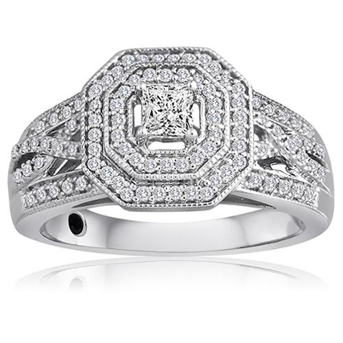 Allure Gems LLC Platinaire 1/2ct TDW Diamond Engagement Ring