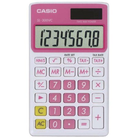 Shipping Time Calculator (Casio SL-300VC Standard Function Calculator, Pink, New, Free)