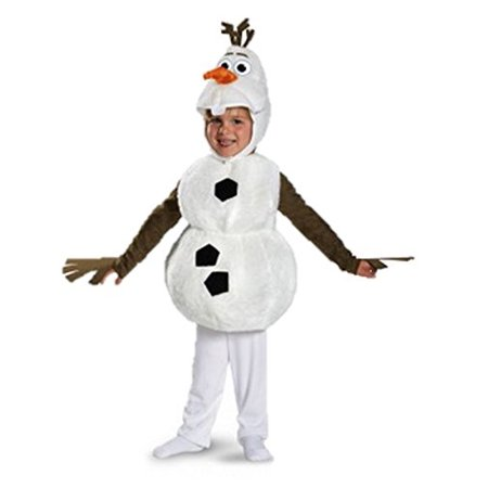 Olaf Disney Costume (Disguise Baby's Disney Frozen Olaf Deluxe Toddler Costume,White,Toddler S)