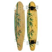 KROWN EXOTIC BAMBOO LONGBOARD Kicktail Skateboard 9 x 43 KICK TAIL
