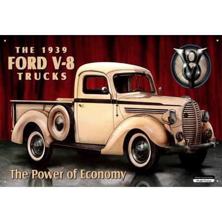 Ford Pick-up 1939 Tin Sign - 16x16