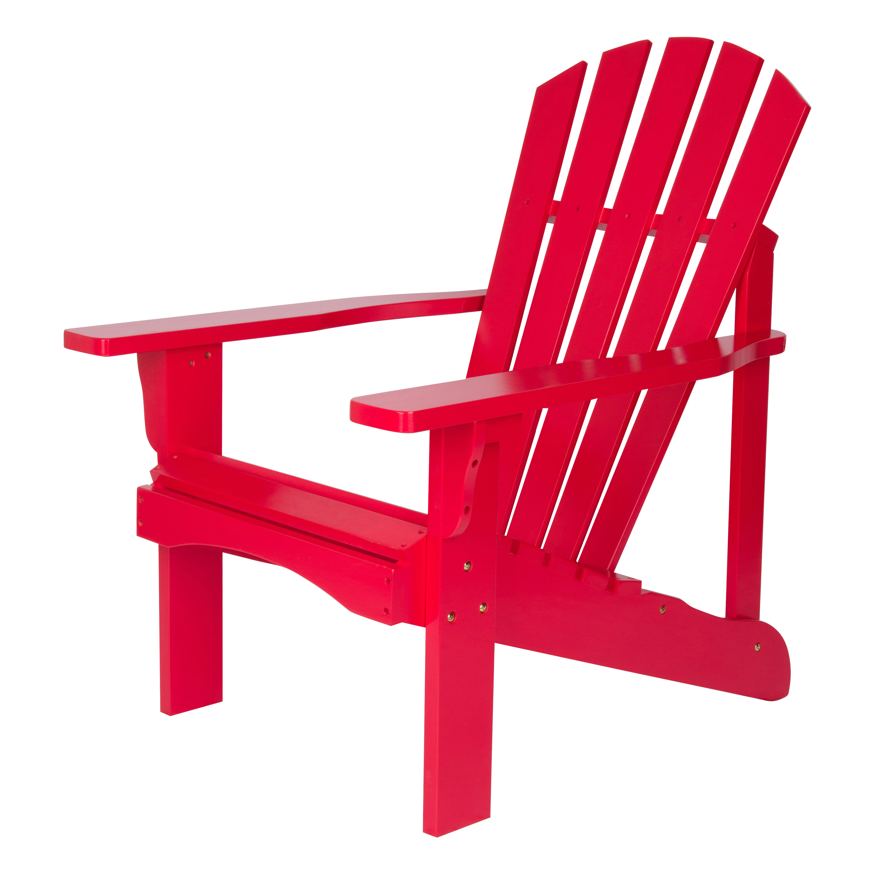 Shine Company Rockport Adirondack Chair   Tomato Red