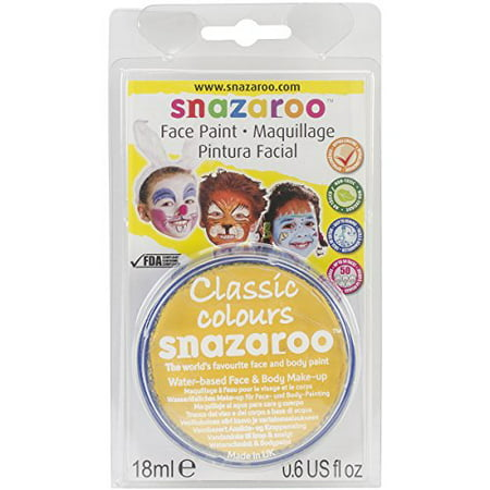 WINSOR & NEWTON / COLART 1119222 SNAZAROO FACE PAINT 18ML CLAM PACK BRIGHT - Snazaroo Face Paints Halloween