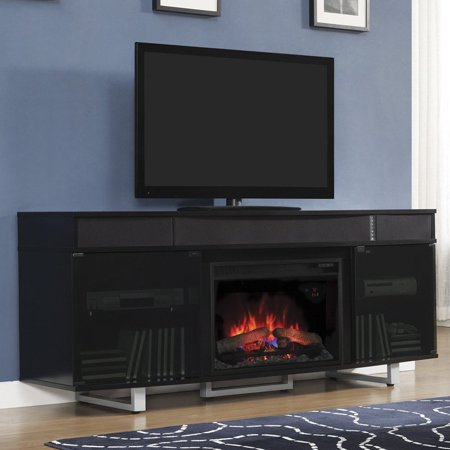 Buy Classic Flame Enterprise Media Infrared Electric Fireplace with Sound Bar - Black at Walmart.com