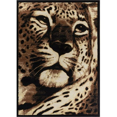 Well Woven Miami Leopard Animal Print Area Rug Black 5