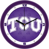 Suntime ST-CO3-TCU-DWCLOCK Texas Christian Horned Frogs-Dimension Wall Clock