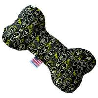 Skater Skulls 8 Inch Canvas Bone Dog Toy