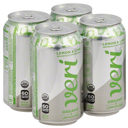 Veri Organic Lemon & Lime Soda, 48 fl oz, (Pack of 3)