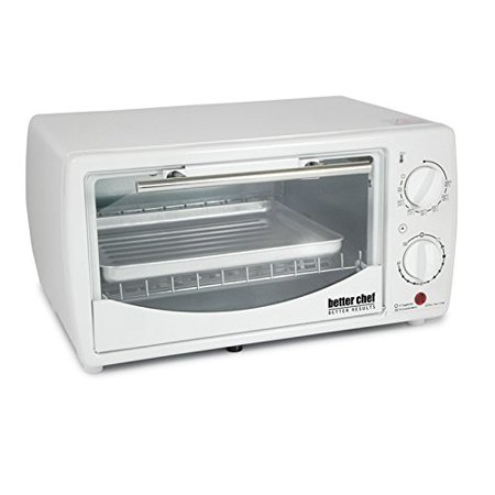 Better Chef 9 Liter Toaster Oven Broiler-White by