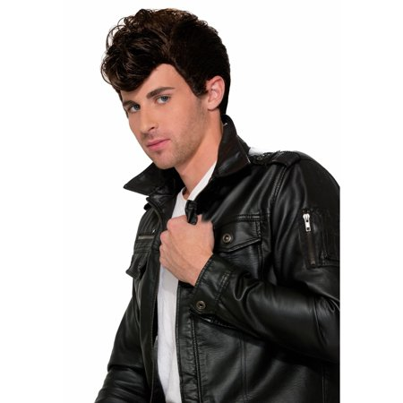 50s Greaser Wig (Halloween 50's Greaser Brown Wig )