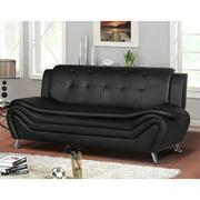 Kingway Furniture Gilan Faux Leather Living Room Sofa - Black