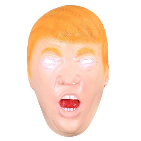 President Donald Trump Celebrity Latex Mask Face Costume Cosplay Halloween Party - 2017 Best Halloween Costumes Celebrity