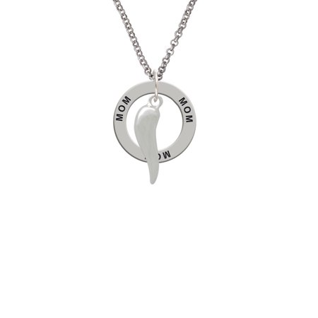 Good Luck Italian Horn Mom Affirmation Ring Necklace Walmart
