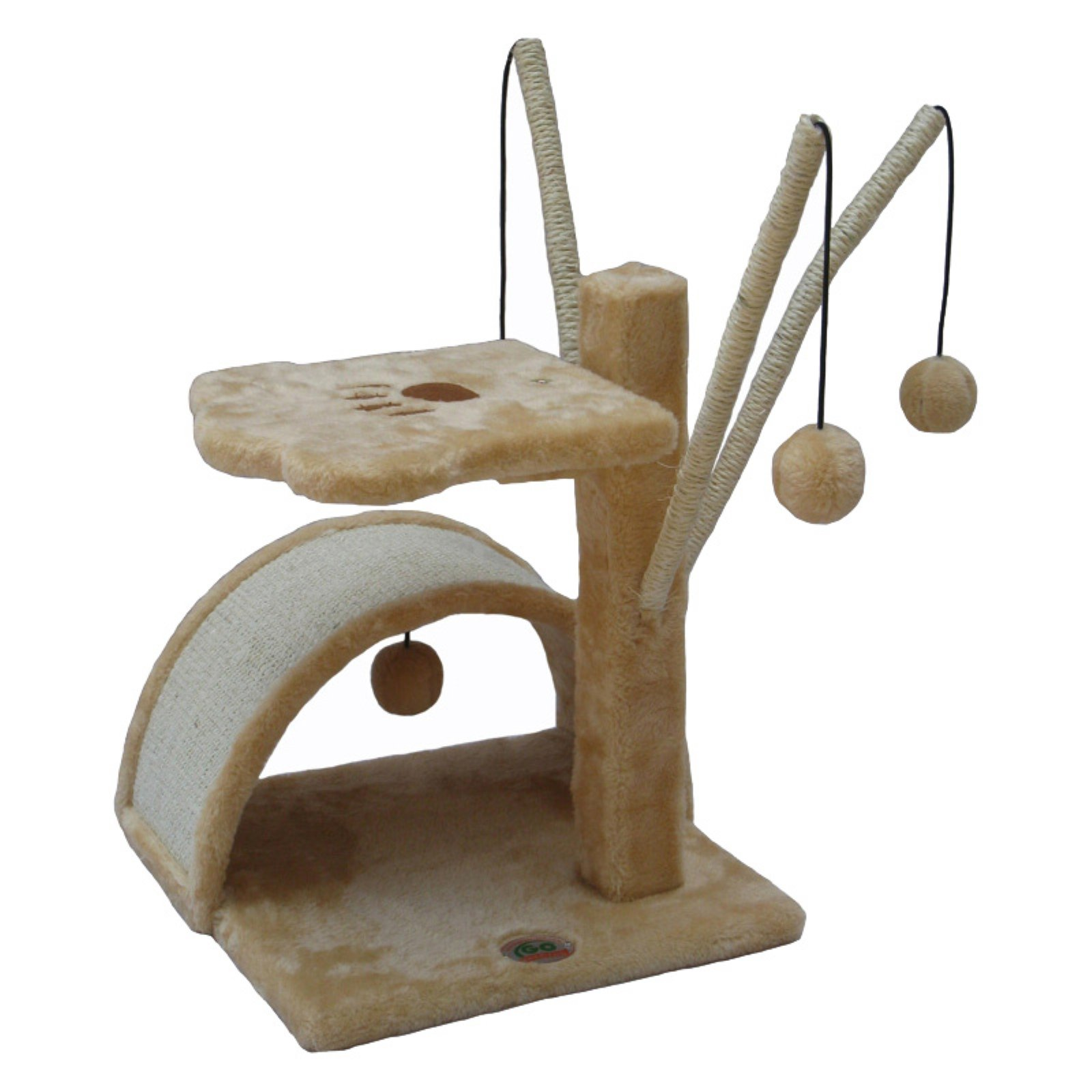 Go Pet Club Cat Tree Furniture 22 in. High Relaxer - Beige