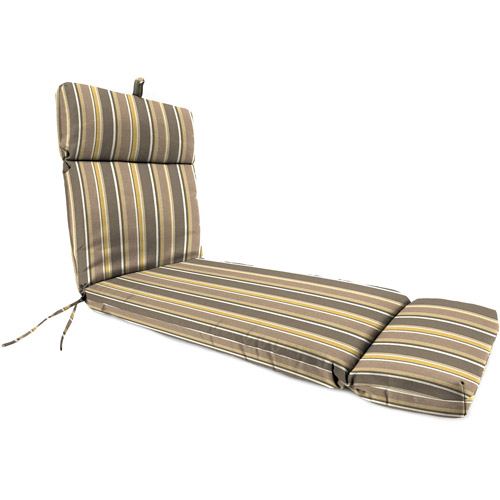 Jordan Manufacturing Outdoor Patio Replacment Chaise Lounge Cushion, Brady Stripe Putty