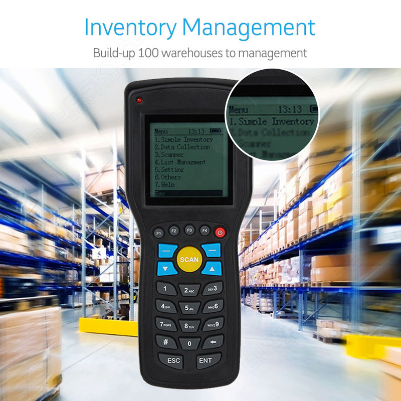 T5 Elite Ver.1D EAN13 wireless barcode scanner data Inventory collector Terminal