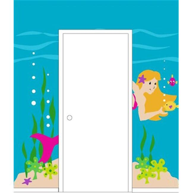 Elephants on the Wall 5-1237 Mermaid Doorhugger - Paint It Yourself