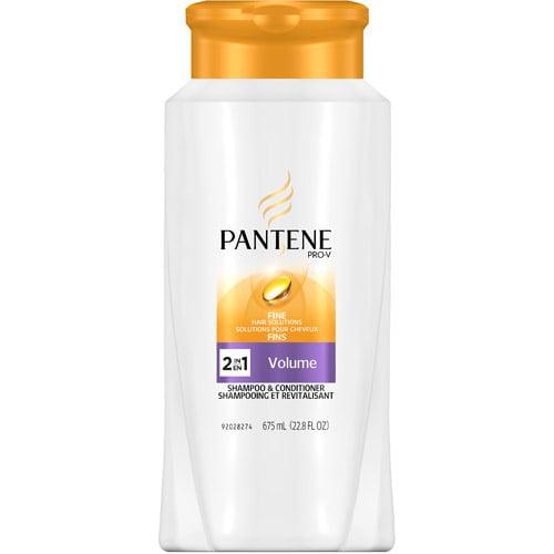Pantene Pro-V Fine Hair Solutions Volume Shampoo + Conditioner, 22.8 oz