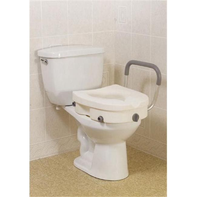 Complete Medical 1152E Elevated Toilet Seat with Arms 2-in-1Locking Tool-Free Retail
