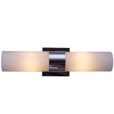 Gymax 2 Light Led Vanity Fixture Polished Chrome Wall