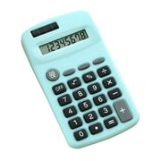 Mini Cute Calculator 8 Digits Display Solar & Battery Dual Power Portable Electronics Calculator Accounting Tool for School Students Children Office Home