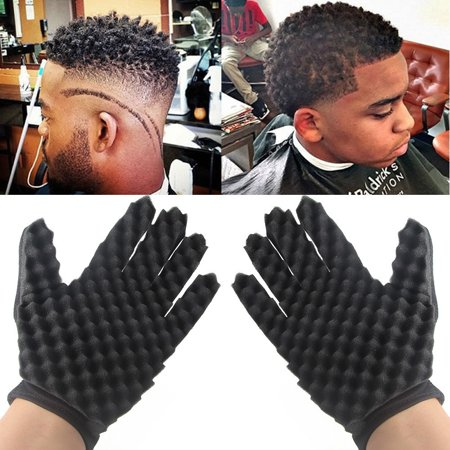 2PC Fashion Curls Coil Magic Tool Wave Barber Hair Brush Sponge