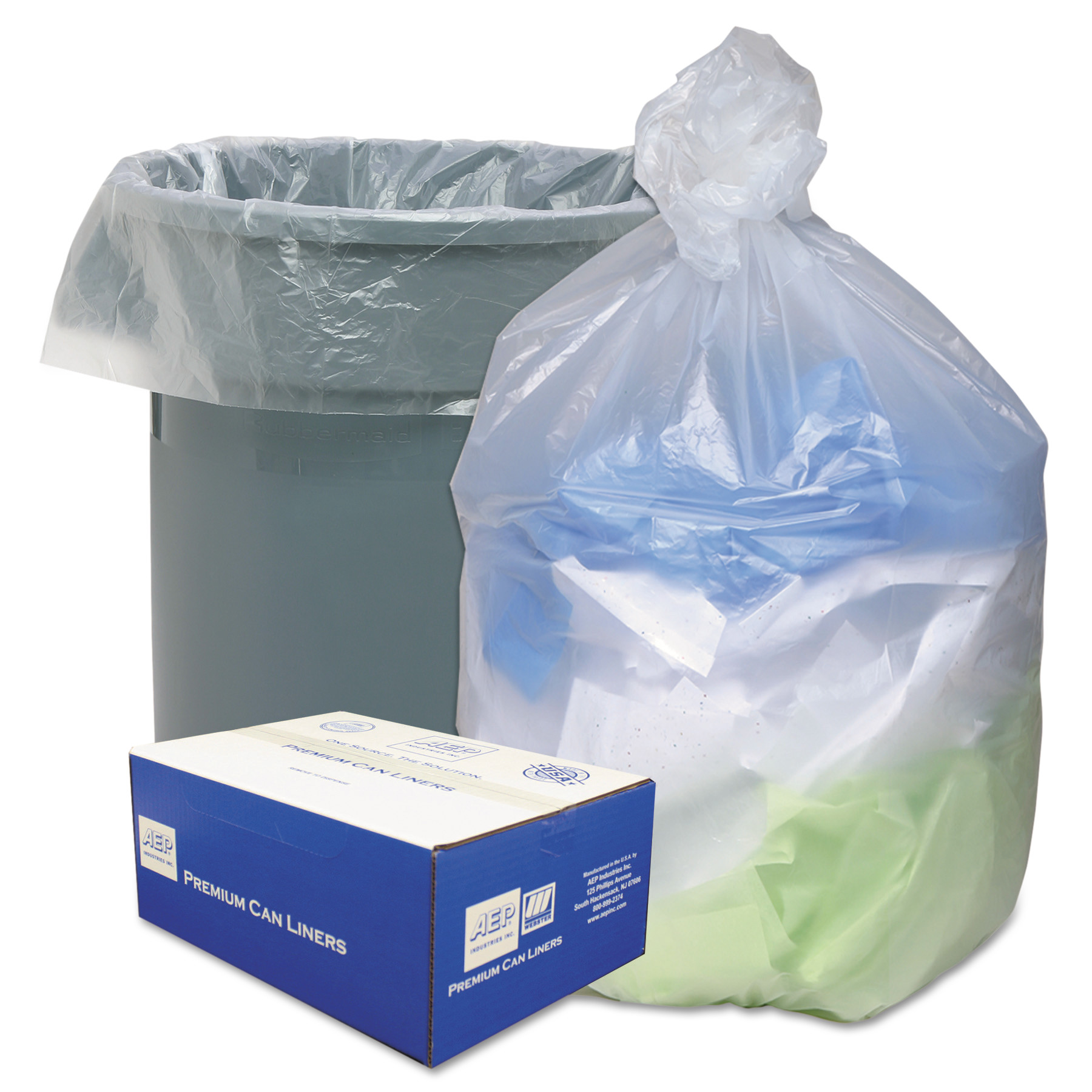 Ultra Plus Natural Can Liner, 56 gal, 25 sheets, 200 ct