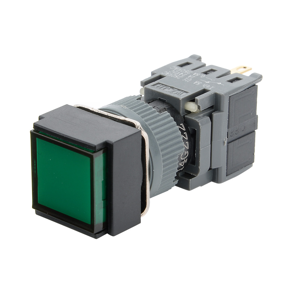 AC 250V 5A SPDT NO NC 4 Terminals Latching Pushbutton Switch Green ...