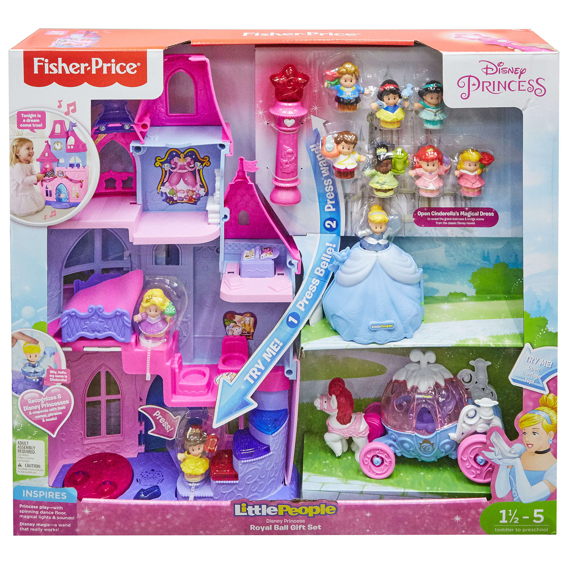 e0ee60554c5ff Disney Princess Royal Ball Gift Set by Little People - Walmart.com