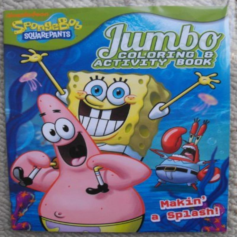 Spongebob Squarepants (Making a Splash) 64pg Coloring and Activity Book.