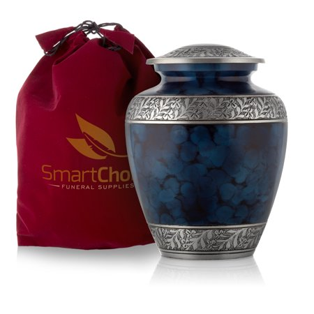 - SmartChoice Royal Blue Cremation Urn for Human Ashes - Affordable Funeral Urn Adult Urn for Ashes Handcrafted Urn (Adult)