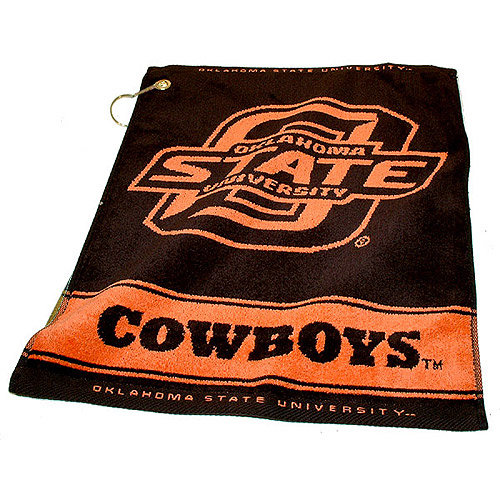 Team Golf NCAA Oklahoma State Jacquard Woven Golf Towel