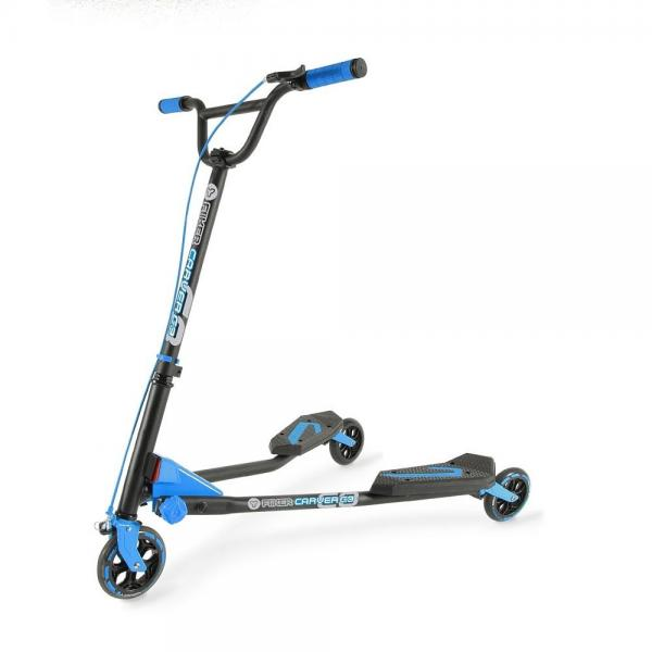 Yvolution Y Fliker C3 Carver Blue Kids Scooter by YVOLUTION